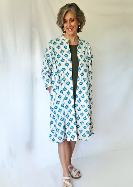 ISABELLA DRESS in Abras Turquoise