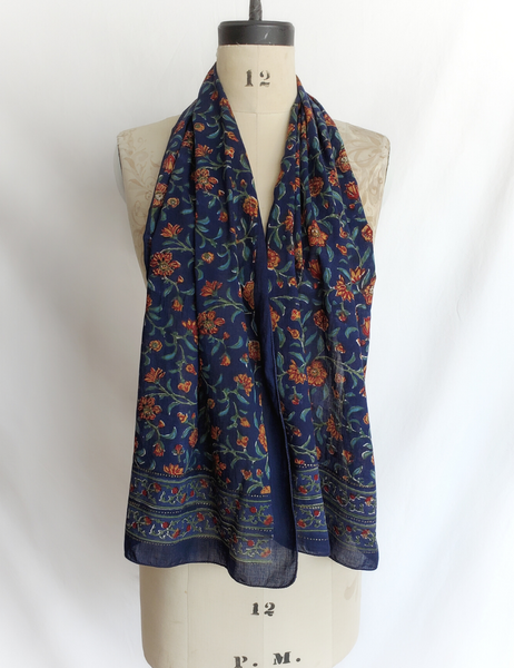 HAND BLOCK PRINTED SCARF COTTON  CH-104