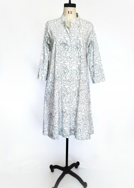 ISABELLA DRESS in Sage Green Pipli Chintz Print