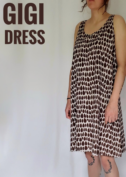 Gigi Dress in Ecru-Espresso, Butti print
