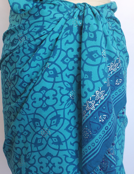 HAND BLOCK PRINTED STOLE SCARF COTTON CH -105