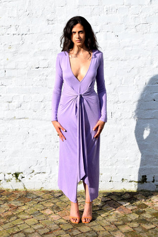 Gold Bottom Daze Dress in Lilac