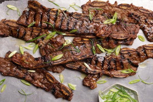 3/8 inch Sliced Korean BBQ  Style Short Ribs (2lb) Bone In