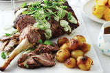 Bone-In Leg of Lamb (4-5lb) (All natural , Free Range Grass Fed, Antibiotic and Hormone Free.)