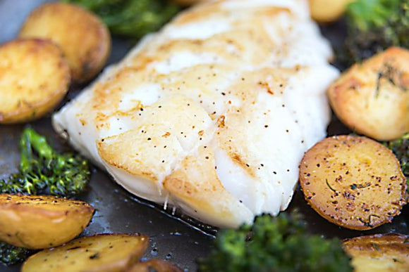 Wild Atlantic Cod Fillets (7-9oz) Skin off