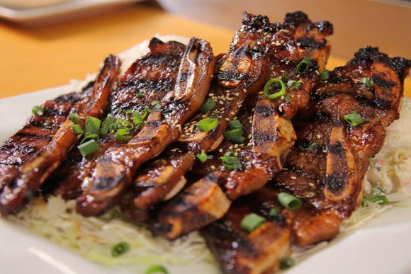 Grass Fed Marinated Kalbi Korean Short Ribs (1lb)