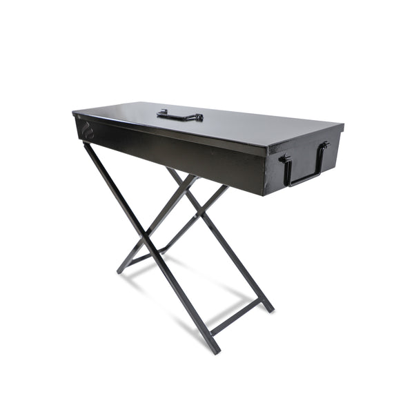 Charcoal Grill Size 80Cm with Galvanized steel box for extra protection منقل فحم 80 سم مع قاعدة وصندوق داخلي مع شبك ستينلس