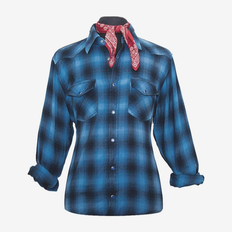 John Fogerty Fortunate Son Flannel - Royal Blue
