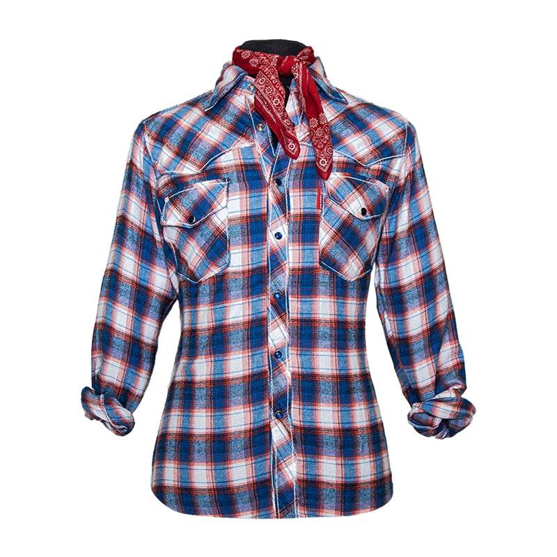 John Fogerty Fortunate Son Flannel -Red, White and Blue