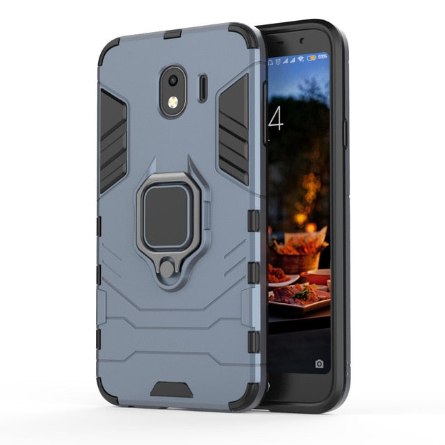SAMSUNG: Luxury Armor Ring Case | Magnetic Shockproof Full Back Case