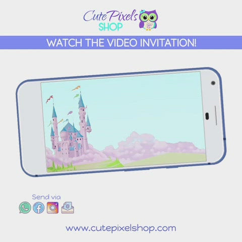 Watch the Disney Princess Birthday Video Invitation, All disney princess together in an animated invitation for a Princess Birthday