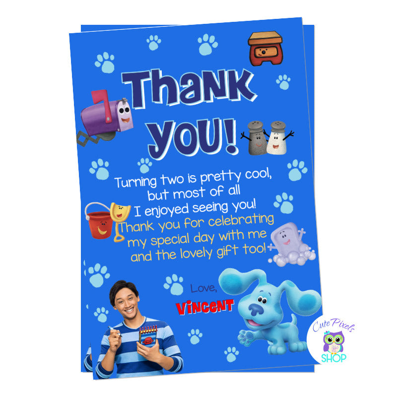 Blue's Clues and You thank you card