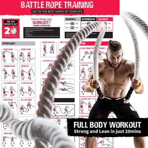 Premium Weighted Battle Rope