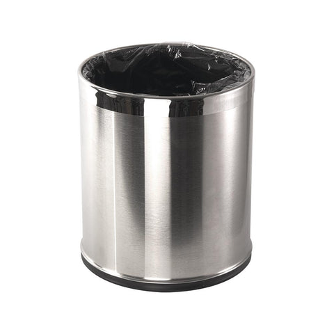 Brushed Stainless Steel Bin - STAR LINEN UK