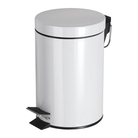 White Pedal Bin - STAR LINEN UK