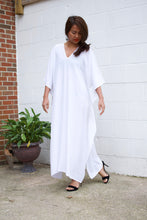 Load image into Gallery viewer, N. White Rayon Kaftan