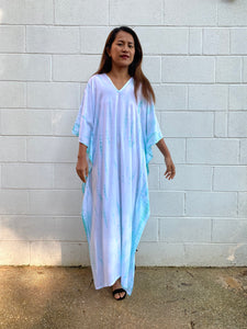 N. Tie dyed Rayon Kaftan One size fit
