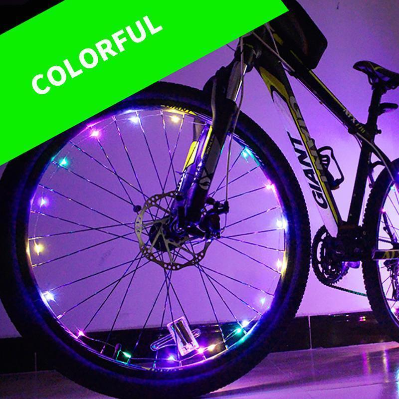 Bicycle Wheel Lights LED Intelligent Charging Bike Lights