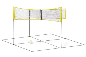 Four-Person Portable Cross volleyball net Indoor Cross Square Net Sport or Outdoor Sand Grass