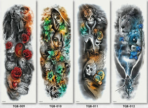 (4 pieces)Colorful Full Arm sleeve Tattoo Waterproof temporary tattoo Sticker