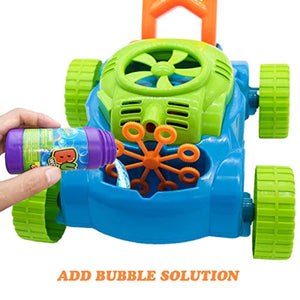 Bubble Mower for Toddlers Kids Bubble Blower Machine Lawn Games  Outdoor Push Toys Gifts