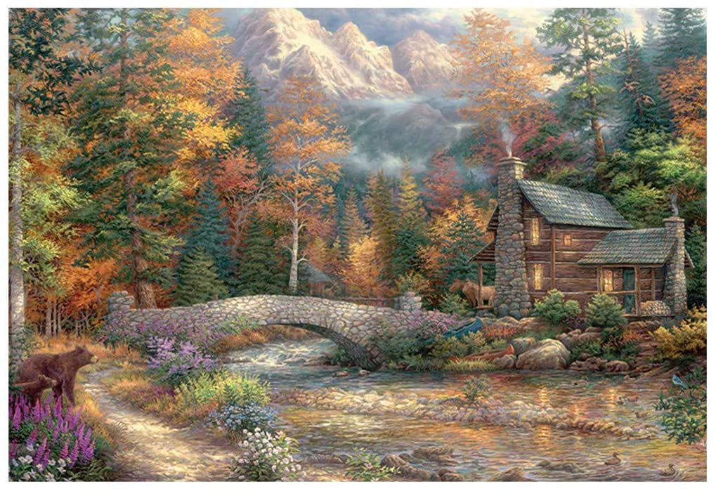 1000 Piece Puzzles for Adults Jigsaw Puzzles Quiet Life Landscape Painting Jigsaw Puzzle Adults Puzzles