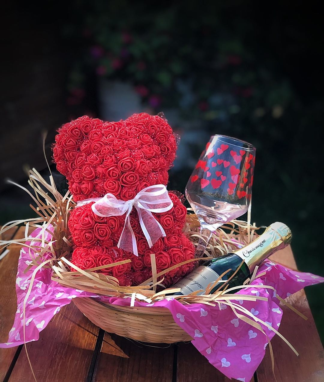 Special Red Rose Bear