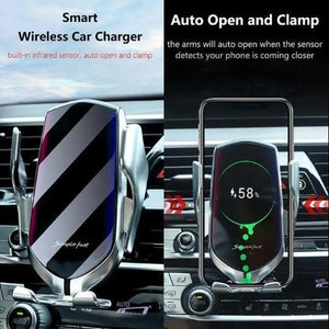 Automatic Clamping Wireless Fast Charging Car Mount