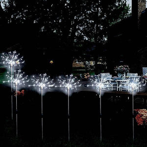 2 Pack Waterproof Solar Fireworks Light