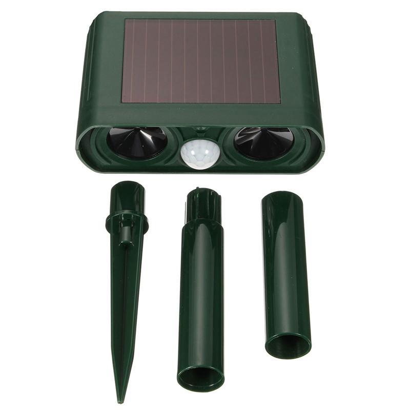 Chipmunk Outdoor Ultrasonic Repeller PACK OF 4 - Solar Powered Ultrasonic Animal & Pest Repellant - Get Rid of Chipmunks in 48 or It s FREE