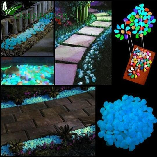 """Night Stones""- Glow-in-the-Dark Garden Pebbles"