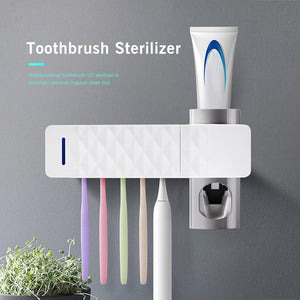 3 in 1 UV Light Ultraviolet Toothbrush Sterilizer+Holder+Paste Dispenser