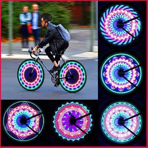 Bicycle Wheel Light Waterproof RGB Super Bright Spoke Light 14-LED 30pcs-Bicycle Tire Accessories Children Adult-Visible
