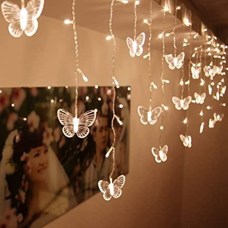 warm white butterfly string lights
