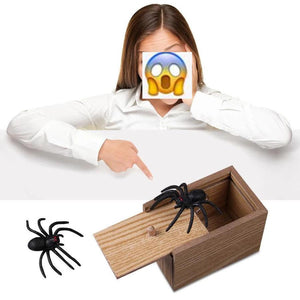 Prank Insect Wooden Scare Box Trick Play Funny Novelties Toys Tricks Spider