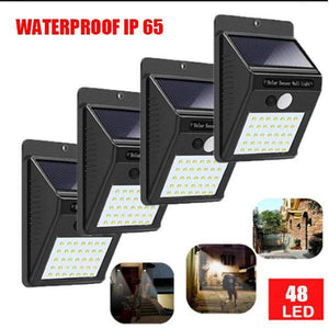 4 Pack Solar Motion Sensor LED Waterproof Outdoor Light
