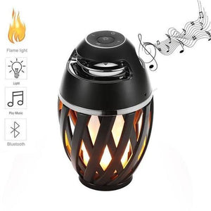 USB Led Flame Lights Bluetooth Speaker Outdoor Portable