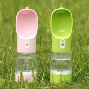 Portable Water and Treat Bottle for Dogs and Cats