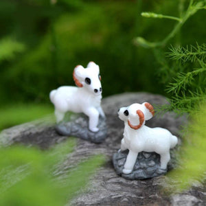 1 Piece Antelope Sheep Saudi Arabia Mutton Lamb Goat Oryx Asia Small Statue Figurine Crafts Ornament Miniatures DIY Decor
