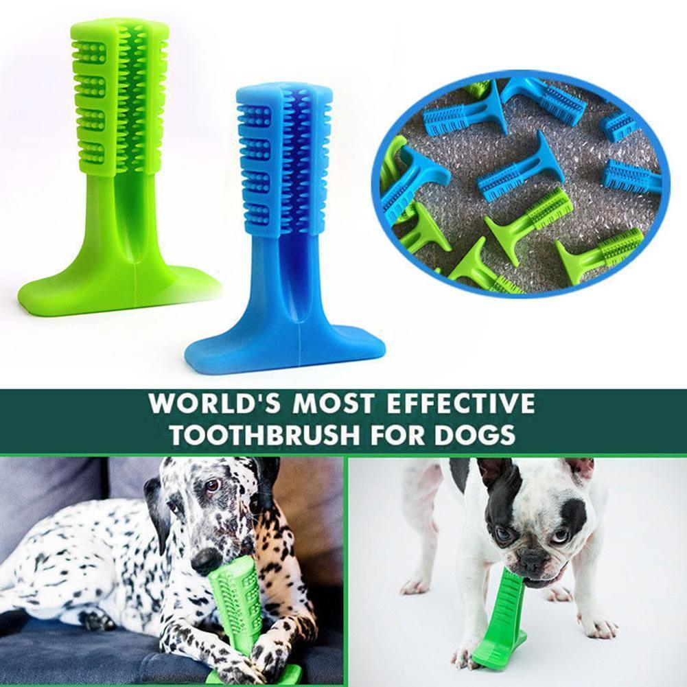 NATURAL RUBBER DENTAL CHEWING DOG TOOTHBRUSH