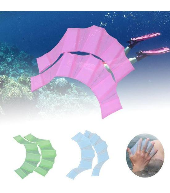 2pcs Swimming Frog Finger Webbed Gloves