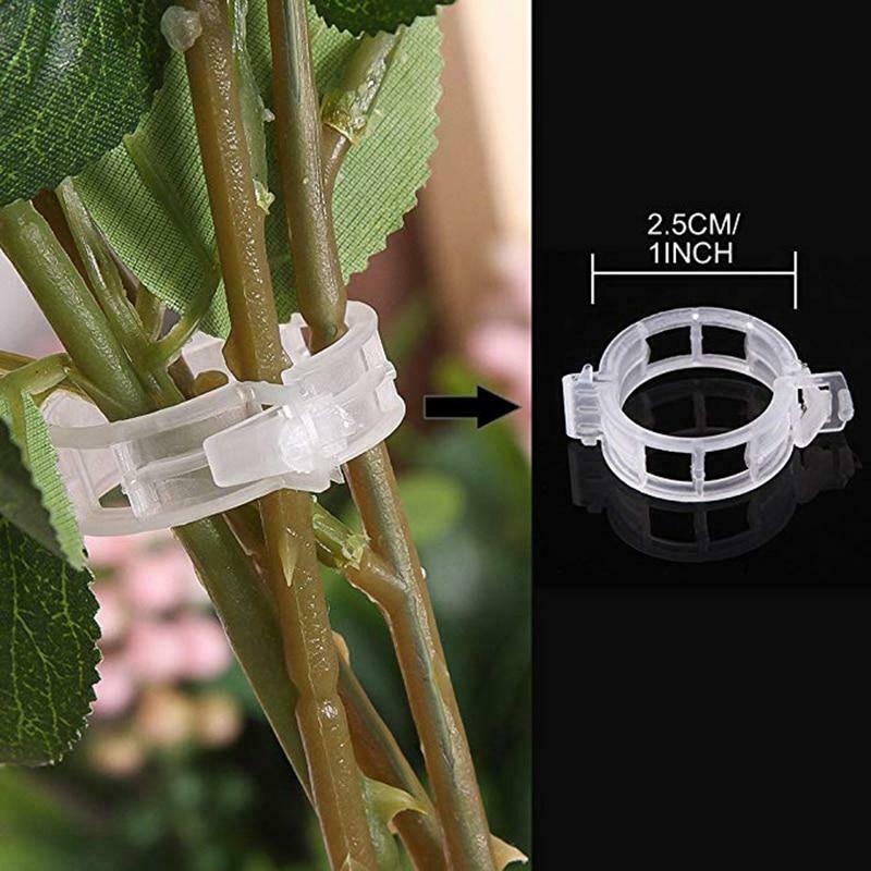50/100pcs Plant Support Clips For Tomato Hanging Trellis Vine