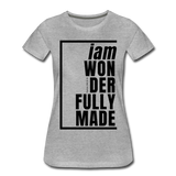 Wonderfully Made / Perfectly Basic Women's Tee / Black Graphic - heather gray
