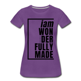 Wonderfully Made / Perfectly Basic Women's Tee / Black Graphic - purple