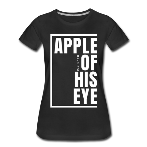 Apple of His Eye / Perfectly Basic Women's Tee / White Graphic - black