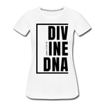 Divine DNA / Perfectly Basic Women's Tee / Black Graphic - white