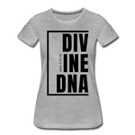 Divine DNA / Perfectly Basic Women's Tee / Black Graphic - heather gray