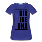 Divine DNA / Perfectly Basic Women's Tee / Black Graphic - royal blue