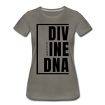 Divine DNA / Perfectly Basic Women's Tee / Black Graphic - asphalt gray