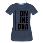Divine DNA / Perfectly Basic Women's Tee / Black Graphic - navy